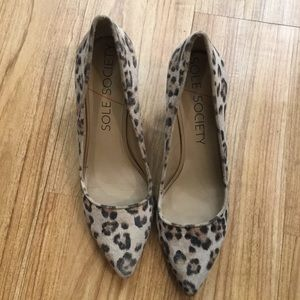 sole society cheetah wedges sz 11